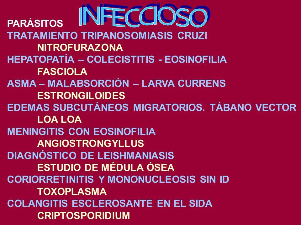 INFECCIOSO PARÁSITOS TRATAMIENTO TRIPANOSOMIASIS CRUZI NITROFURAZONA