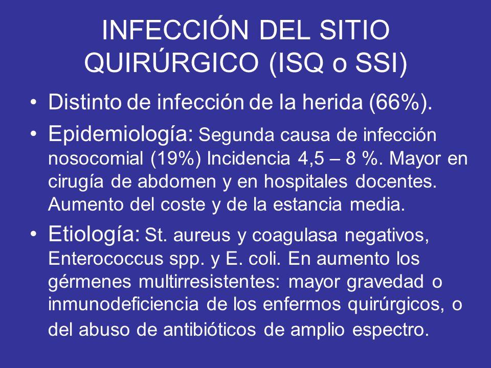 INFECCIÓN DEL SITIO QUIRÚRGICO (ISQ o SSI)