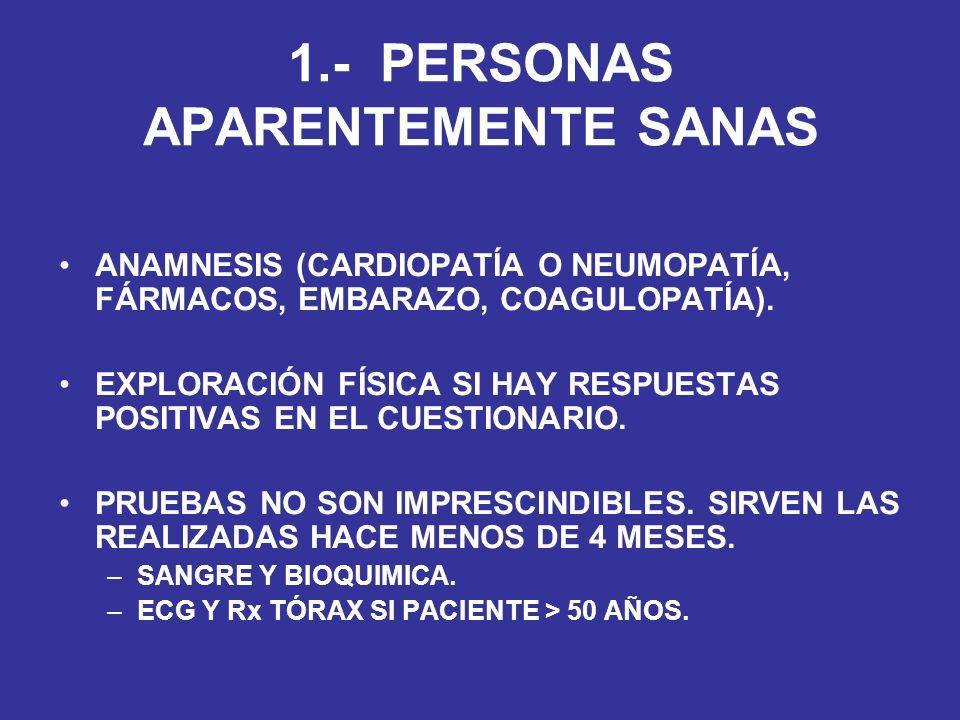 1.- PERSONAS APARENTEMENTE SANAS