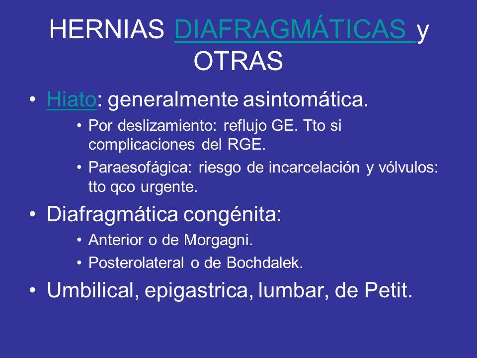 HERNIAS DIAFRAGMÁTICAS y OTRAS