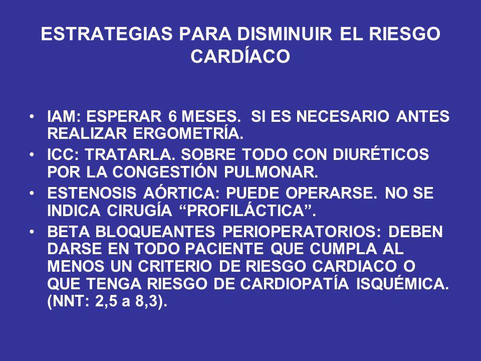 ESTRATEGIAS PARA DISMINUIR EL RIESGO CARDÍACO