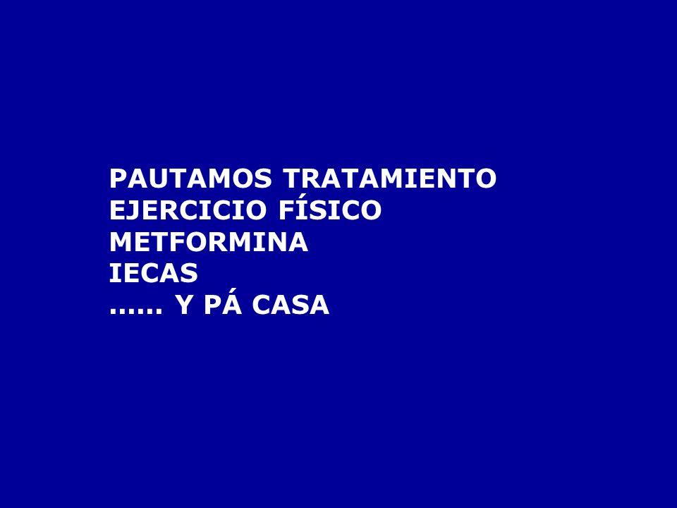 PAUTAMOS TRATAMIENTO EJERCICIO FÍSICO METFORMINA IECAS ...... Y PÁ CASA