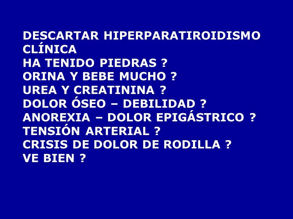 DESCARTAR HIPERPARATIROIDISMO