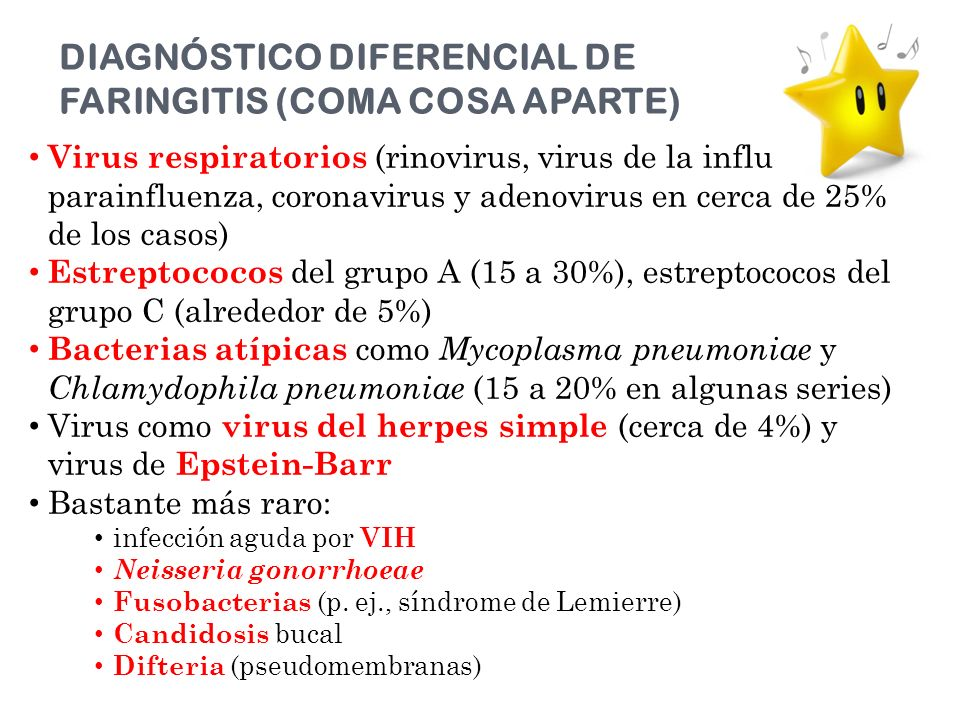 DIAGNÓSTICO DIFERENCIAL DE FARINGITIS (COMA COSA APARTE)