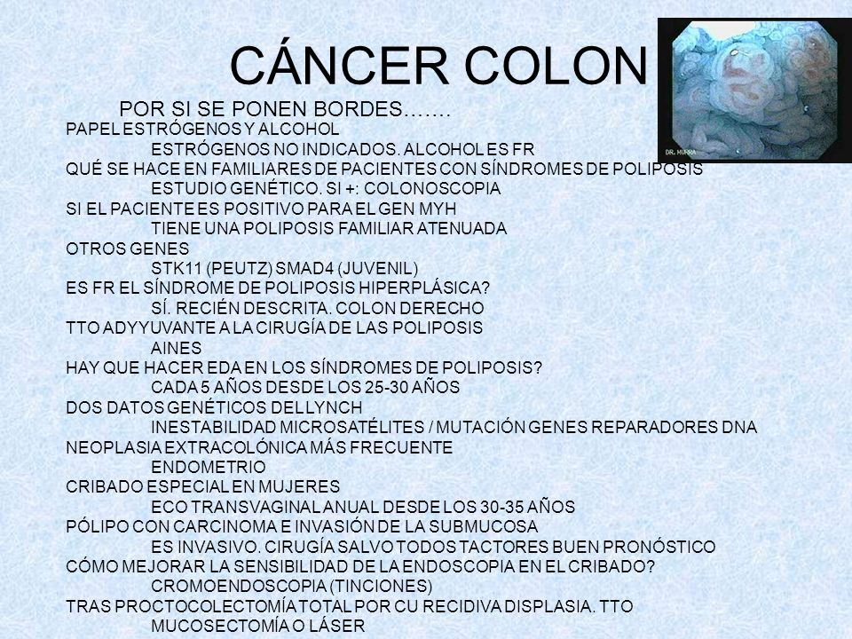 CÁNCER COLON POR SI SE PONEN BORDES……. PAPEL ESTRÓGENOS Y ALCOHOL