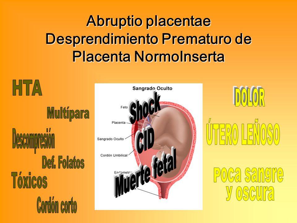 Abruptio placentae Desprendimiento Prematuro de Placenta NormoInserta