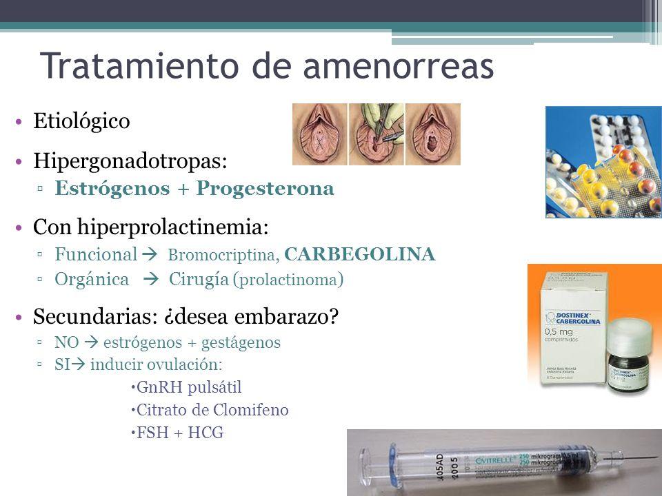 Tratamiento de amenorreas
