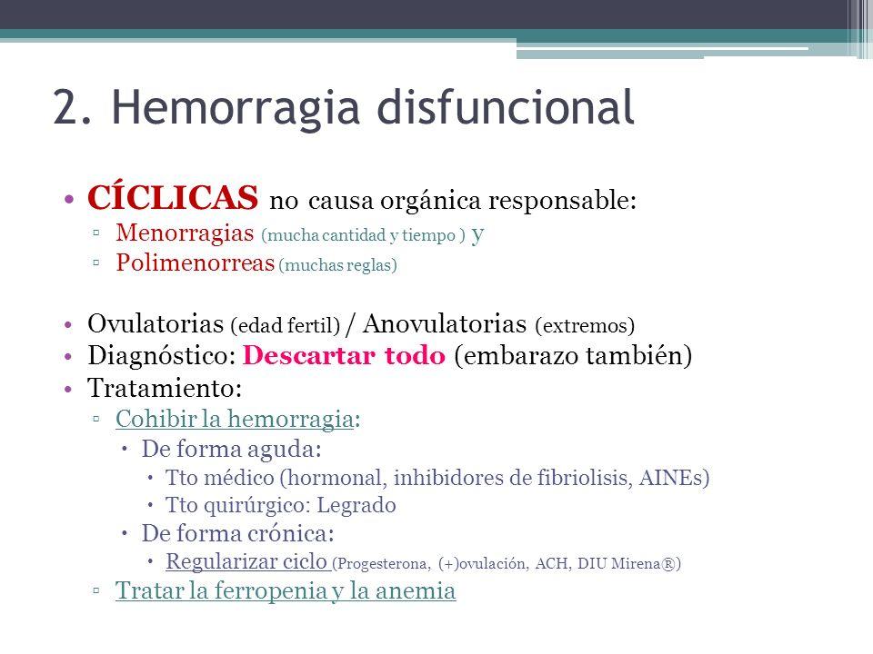 2. Hemorragia disfuncional