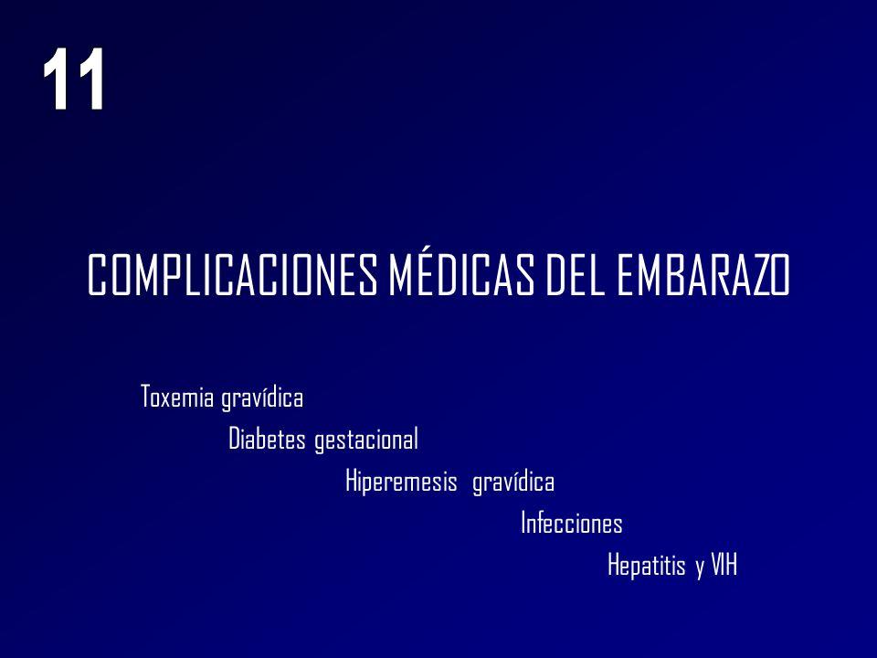 COMPLICACIONES MÉDICAS DEL EMBARAZO