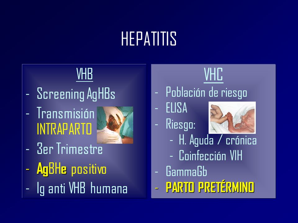 HEPATITIS VHC VHB Screening AgHBs Transmisión INTRAPARTO 3er Trimestre