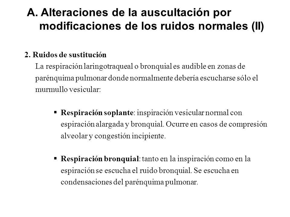 A. Alteraciones de la auscultación por modificaciones de los ruidos normales (II)
