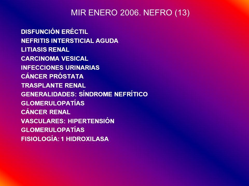 MIR ENERO 2006. NEFRO (13) DISFUNCIÓN ERÉCTIL