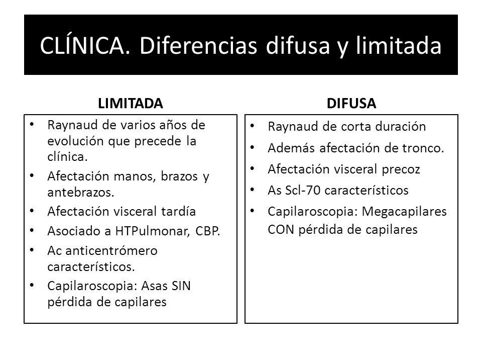 CLÍNICA. Diferencias difusa y limitada