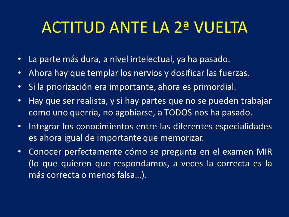 ACTITUD ANTE LA 2ª VUELTA