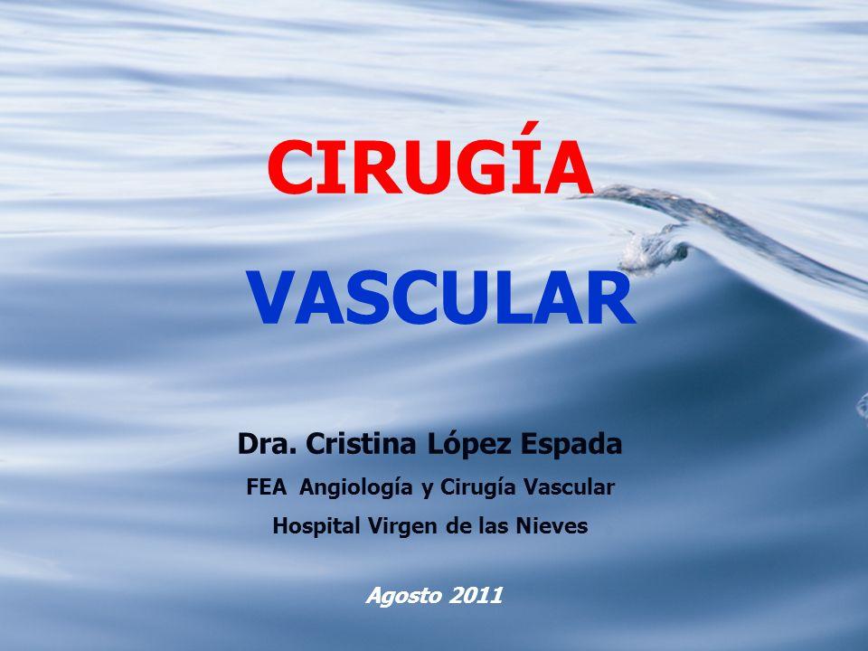 CIRUGÍA VASCULAR Dra. Cristina López Espada