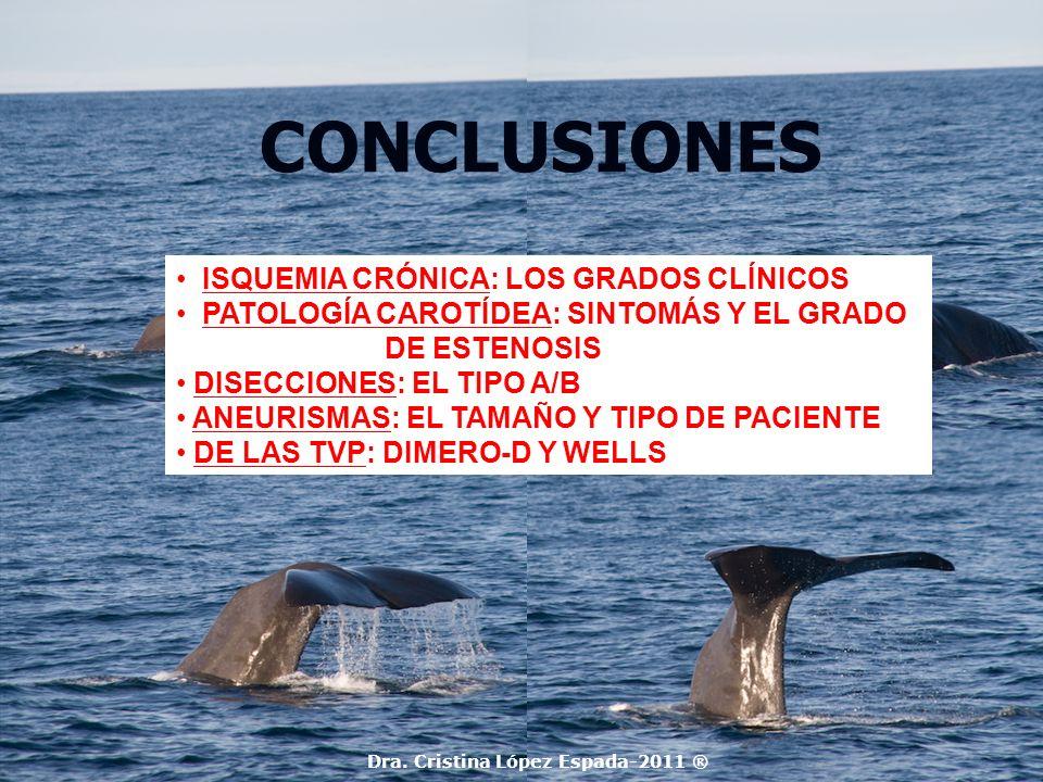 CONCLUSIONES ISQUEMIA CRÓNICA: LOS GRADOS CLÍNICOS