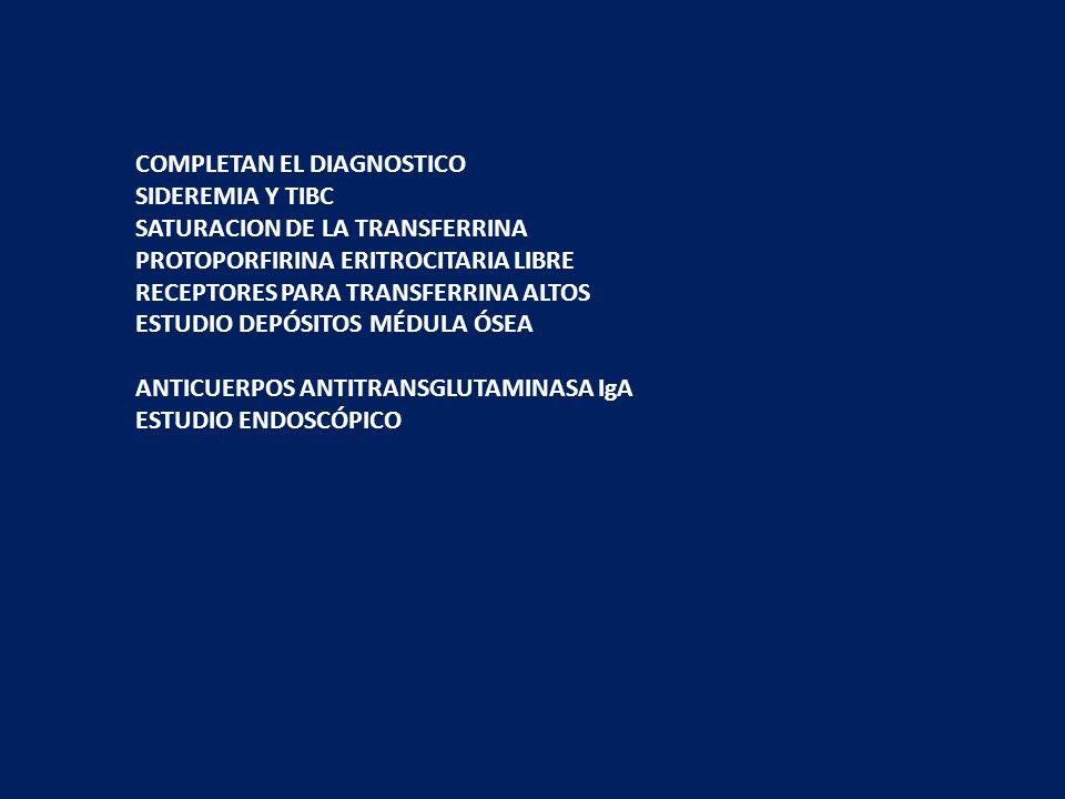 COMPLETAN EL DIAGNOSTICO