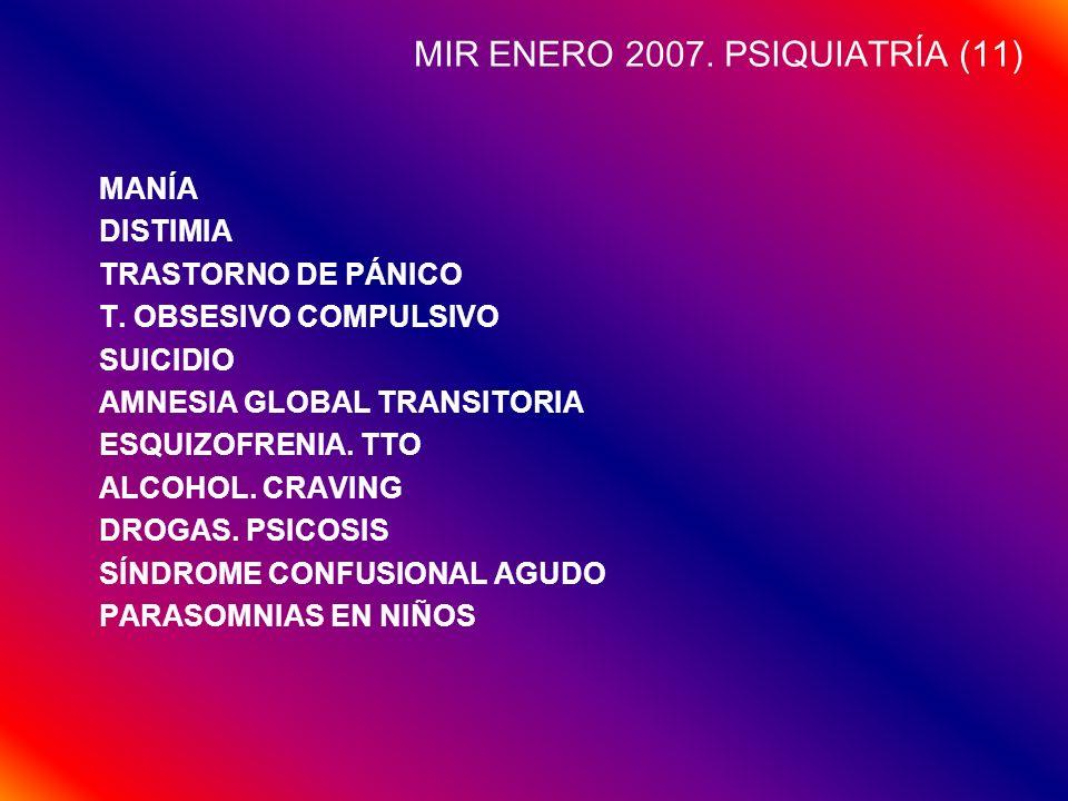 MIR ENERO 2007. PSIQUIATRÍA (11)