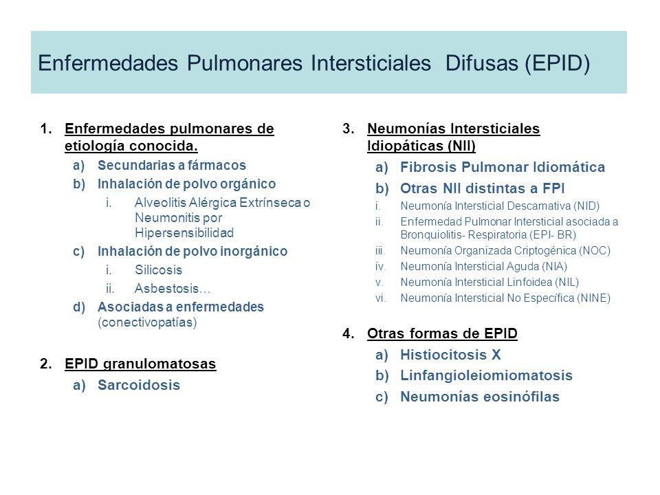 Enfermedades Pulmonares Intersticiales Difusas (EPID)