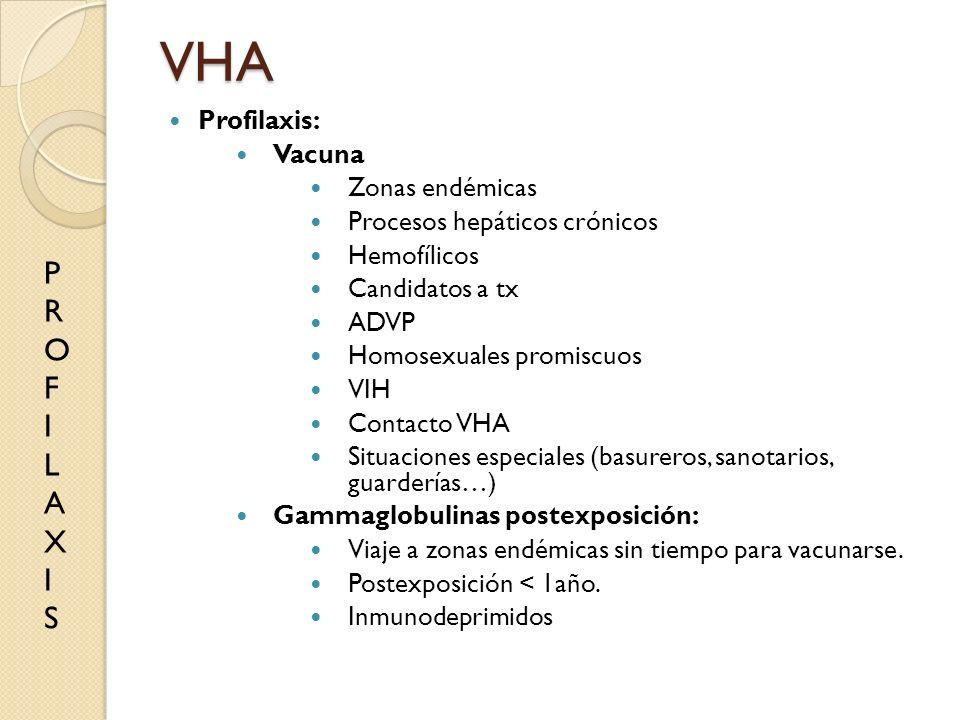 VHA P R O F I L A X S Profilaxis: Vacuna Zonas endémicas