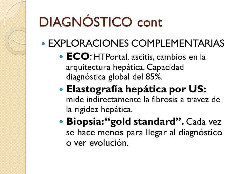 DIAGNÓSTICO cont EXPLORACIONES COMPLEMENTARIAS