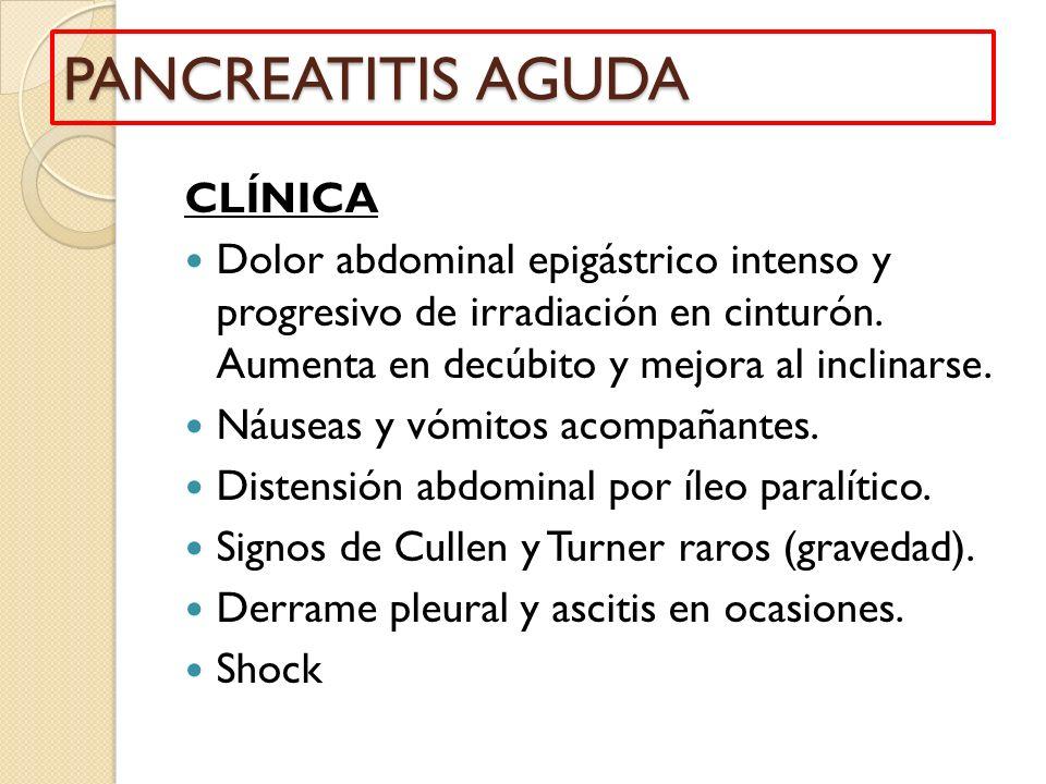 PANCREATITIS AGUDA CLÍNICA