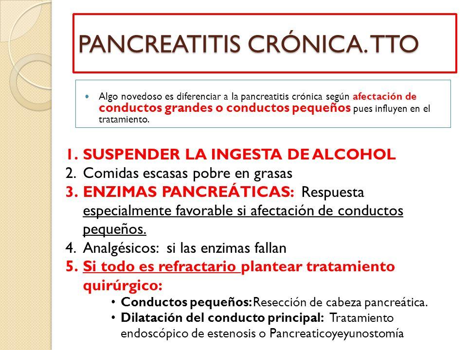PANCREATITIS CRÓNICA. TTO