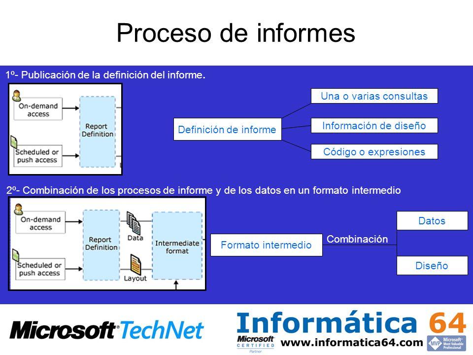 Proceso de informes 1º- Publicación de la definición del informe.
