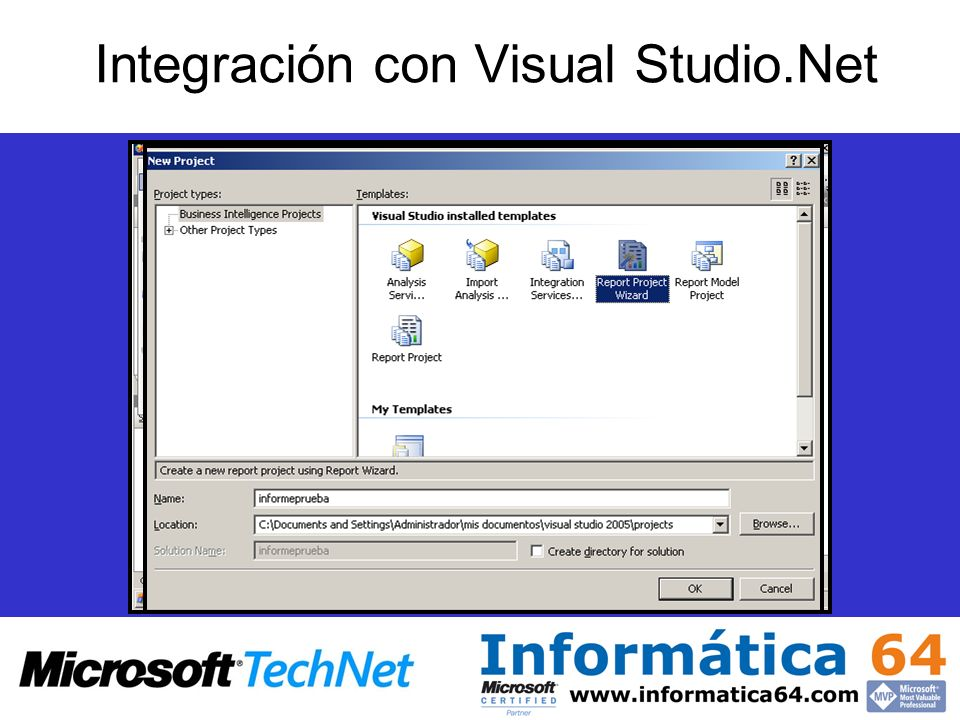 Integración con Visual Studio.Net