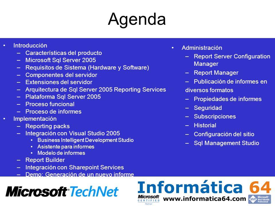 Agenda Introducción Características del producto Administración