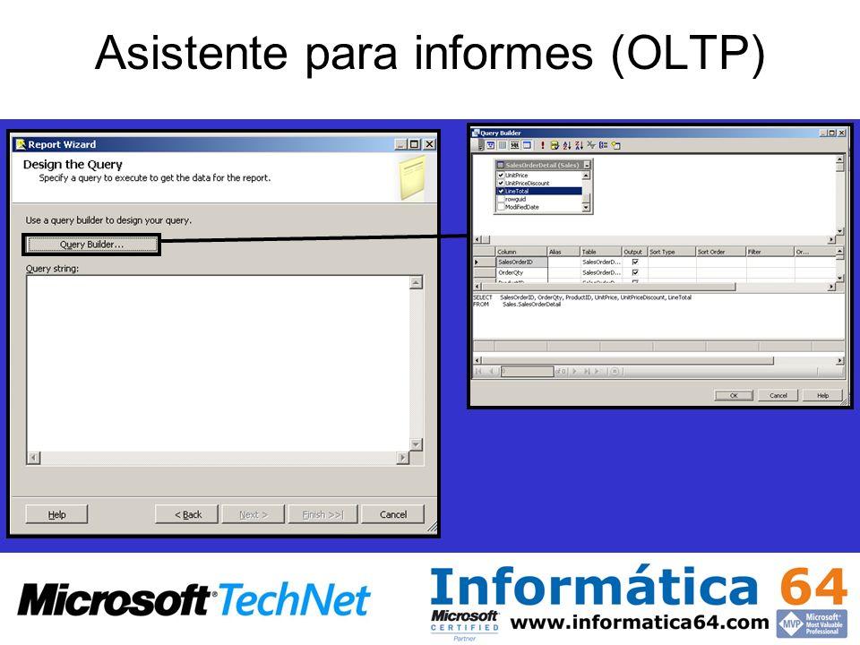 Asistente para informes (OLTP)
