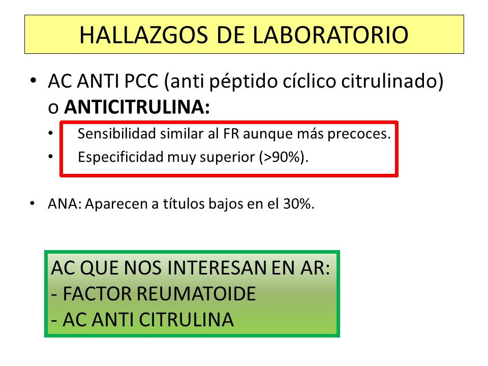 HALLAZGOS DE LABORATORIO