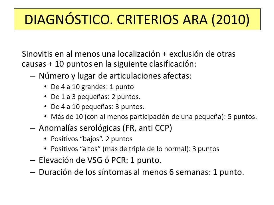 DIAGNÓSTICO. CRITERIOS ARA (2010)