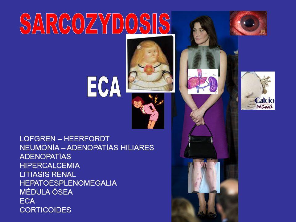 SARCOZYDOSIS ECA LOFGREN – HEERFORDT NEUMONÍA – ADENOPATÍAS HILIARES