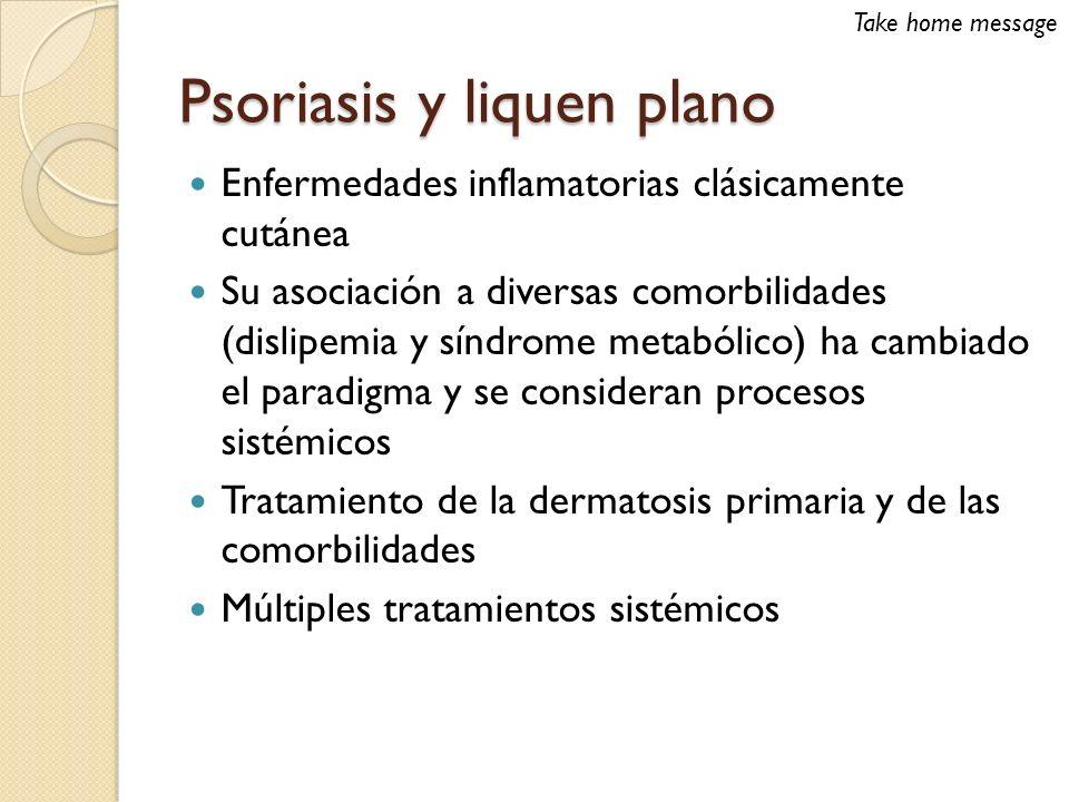 Psoriasis y liquen plano