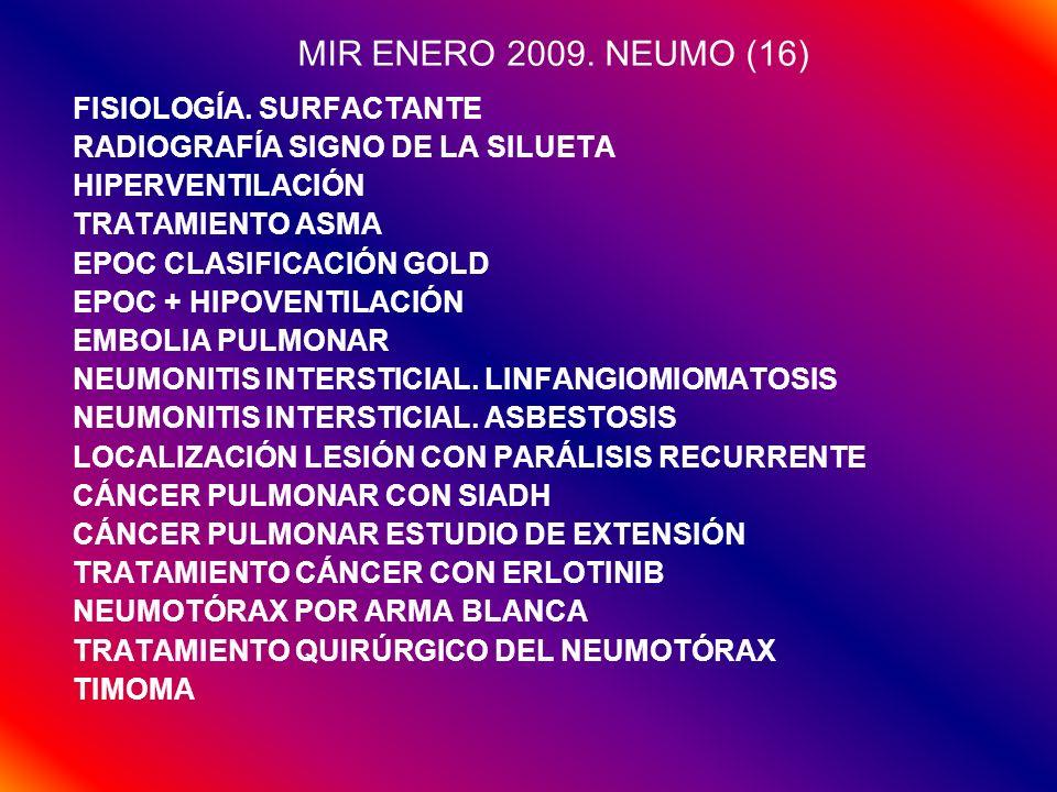 MIR ENERO 2009. NEUMO (16) FISIOLOGÍA. SURFACTANTE