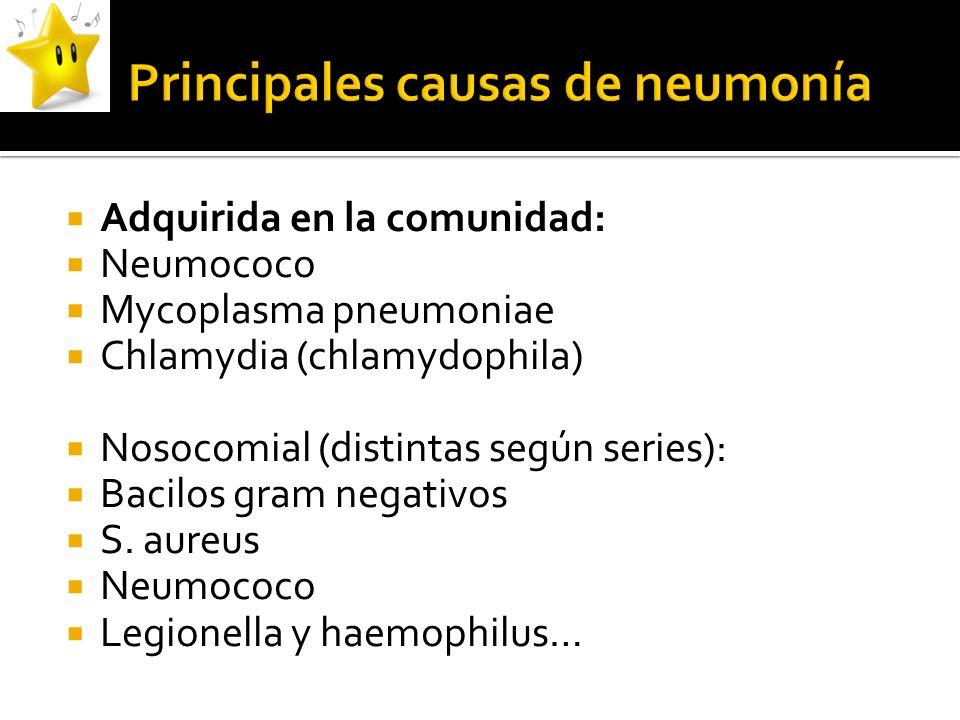 Principales causas de neumonía