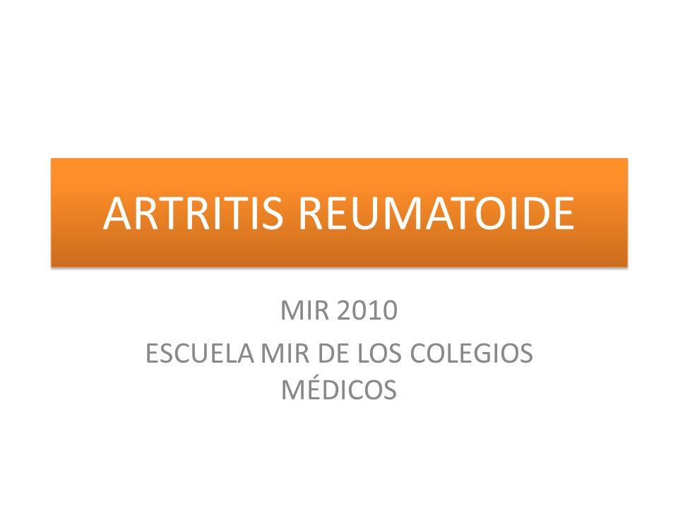 MIR 2010 ESCUELA MIR DE LOS COLEGIOS MÉDICOS