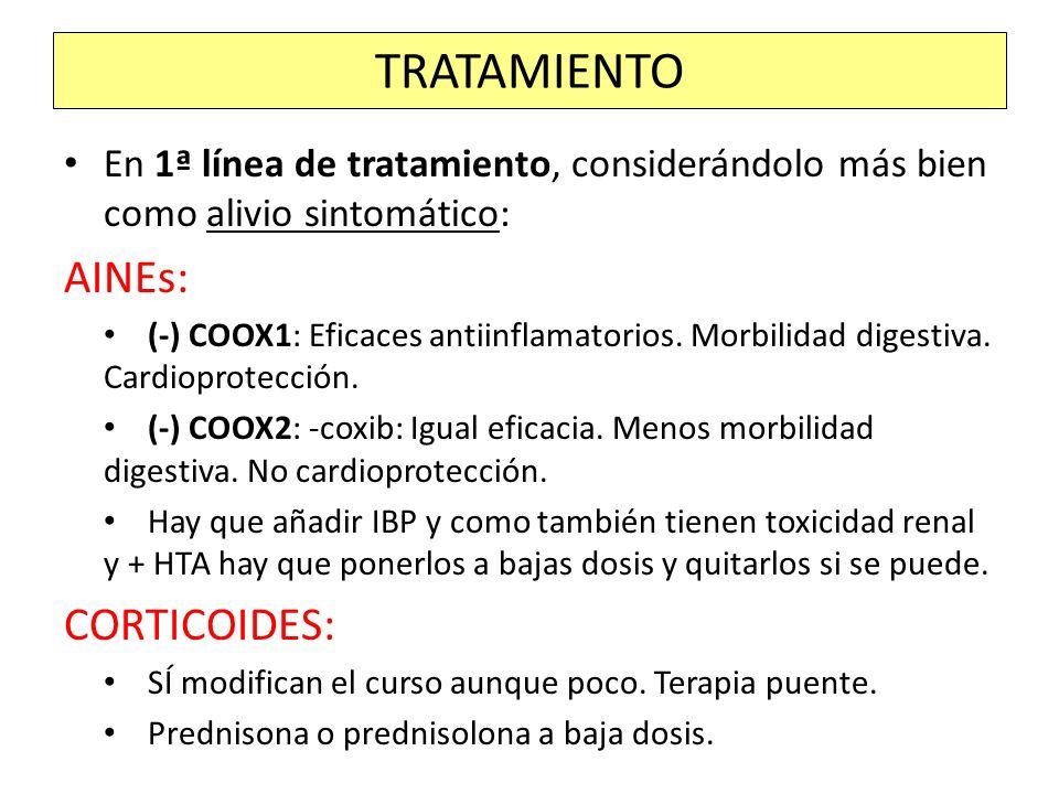 TRATAMIENTO AINEs: CORTICOIDES: