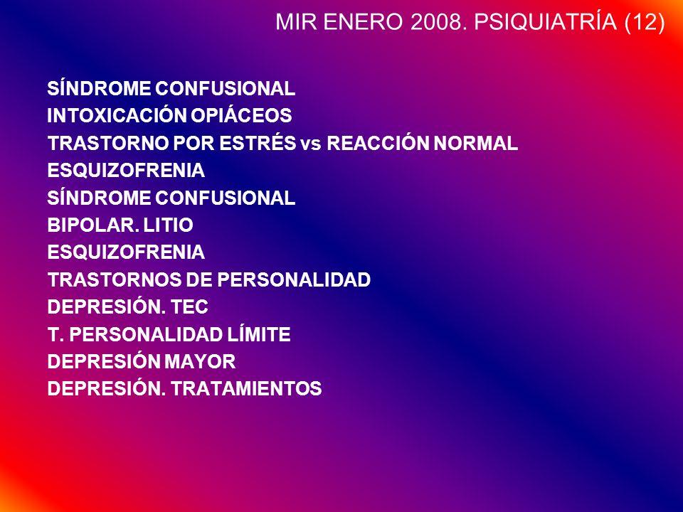 MIR ENERO 2008. PSIQUIATRÍA (12)