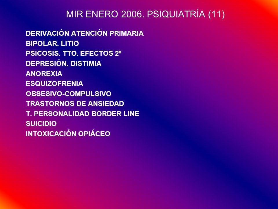 MIR ENERO 2006. PSIQUIATRÍA (11)