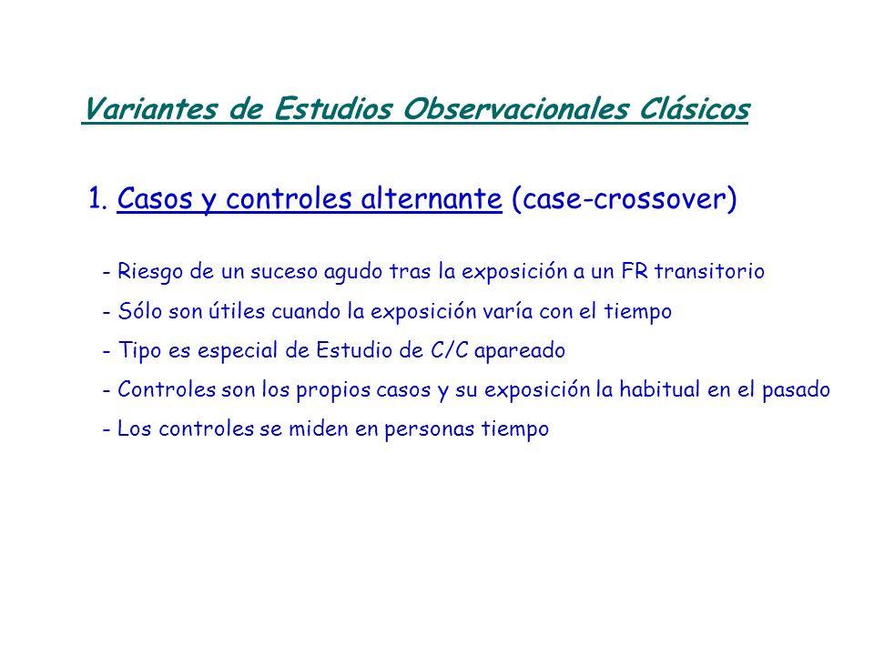 Variantes de Estudios Observacionales Clásicos