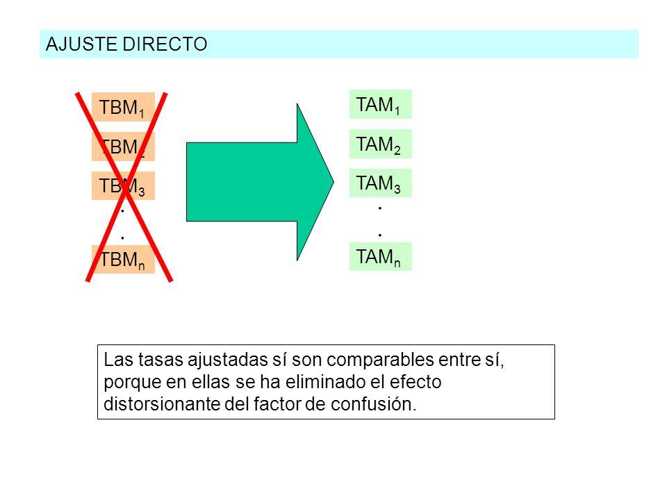 . . AJUSTE DIRECTO TAM1 TBM1 TAM2 TBM2 TAM3 TBM3 TAMn TBMn