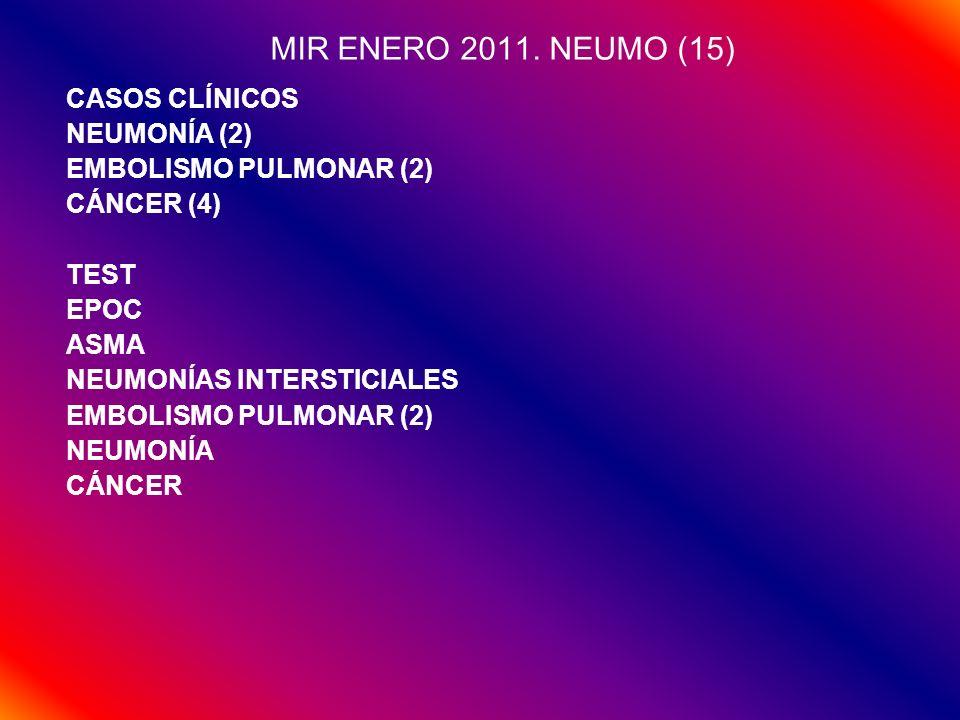 MIR ENERO 2011. NEUMO (15) CASOS CLÍNICOS NEUMONÍA (2)
