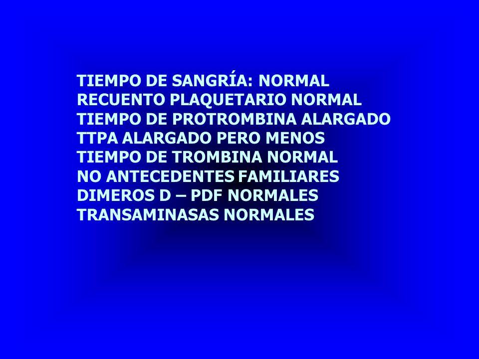 TIEMPO DE SANGRÍA: NORMAL