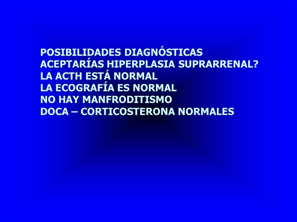 POSIBILIDADES DIAGNÓSTICAS