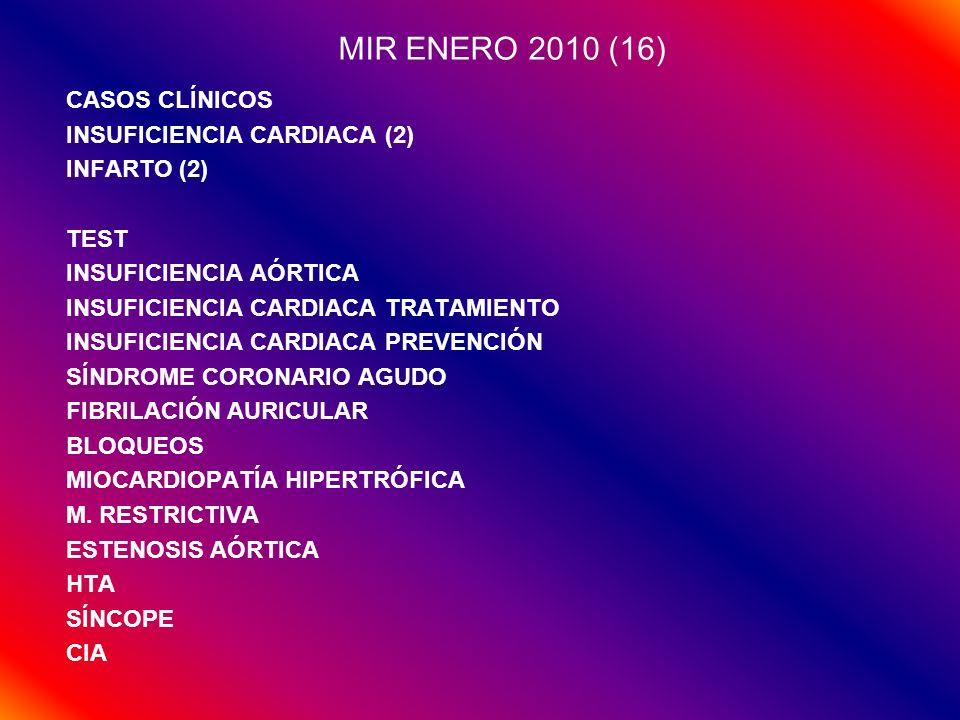 MIR ENERO 2010 (16) CASOS CLÍNICOS INSUFICIENCIA CARDIACA (2)