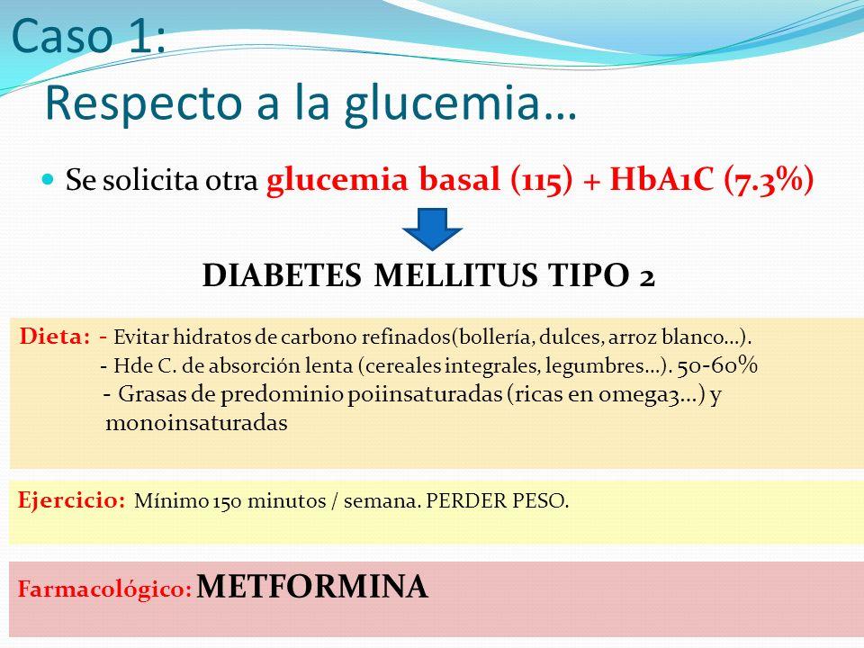 Respecto a la glucemia…