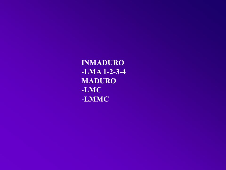 INMADURO LMA 1-2-3-4 MADURO LMC LMMC