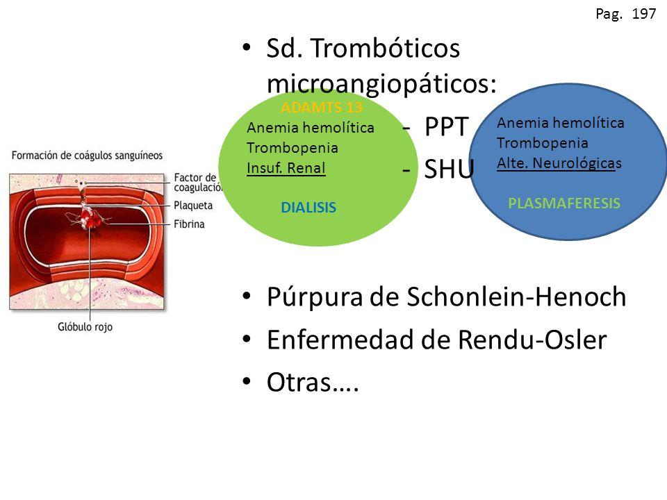 Sd. Trombóticos microangiopáticos: - PPT - SHU